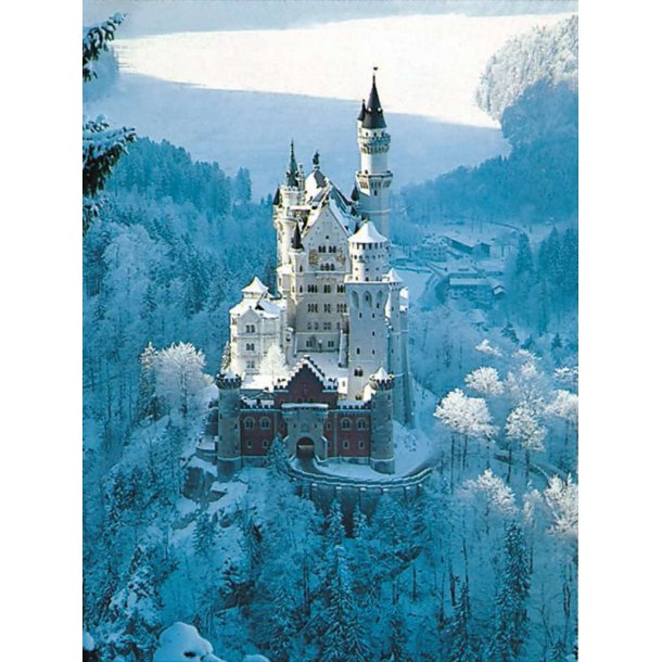 Ravensburger - Neuschwanstein Castle in Winter, 1500 Brikker Puslespill