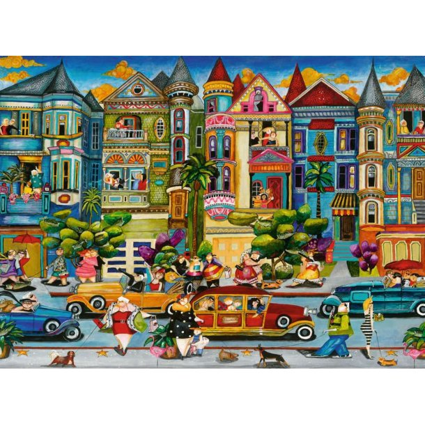 Ravensburger - The Painted Ladies, 1500 Brikker Puslespill