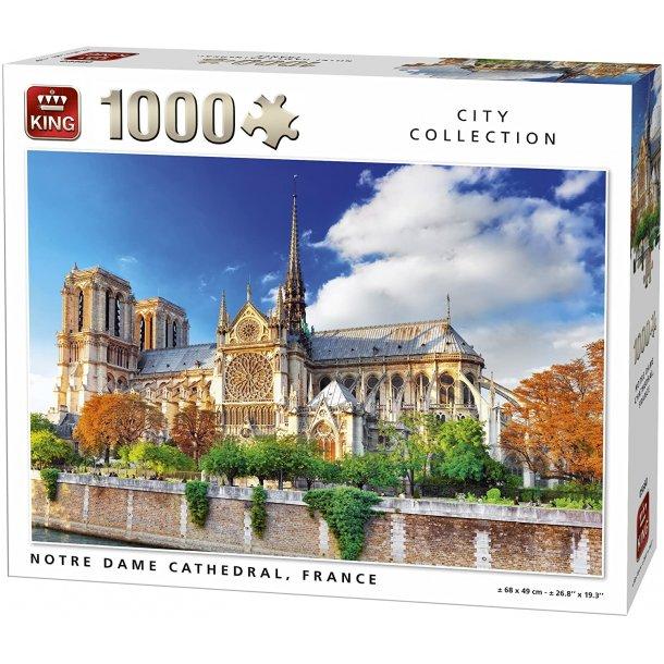 King-Puzzle - Notre Dame Paris, 1000 Brikker Puslespill