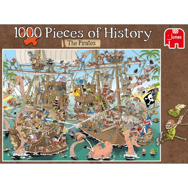 Veldig History: The Pirates 1000 Brikker Puslespill - Puslespill 1000 RH-23